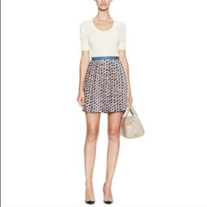 Marc by Marc Jacobs Puzzle print velvet/silk skirt